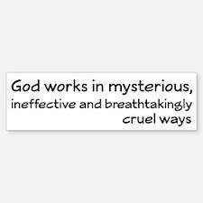 God Works In Mysterious Ways Car Car Sticker