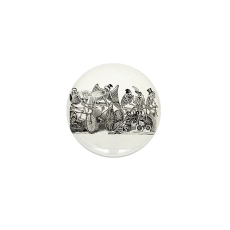 Calaveras on Wheels Mini Button (10 pack)