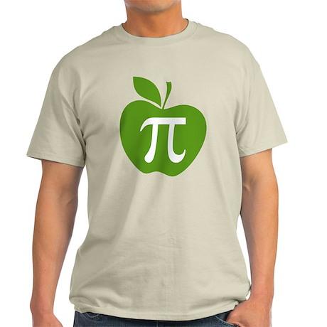 Green Apple Pi Math Humor Light T-Shirt
