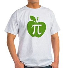 Green Apple Pi Math Humor T-Shirt