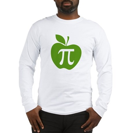 Green Apple Pi Math Humor Long Sleeve T-Shirt