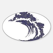 Wave Sticker (Oval 10 pk)