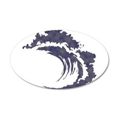 Wave 20x12 Oval Wall Decal