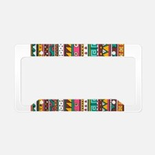 Colorful Tribal Pattern License Plate Holder