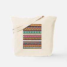 Colorful Tribal Pattern Tote Bag
