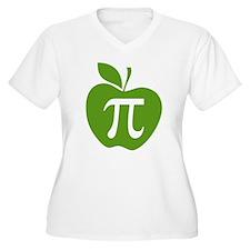 Green Apple Pi Math Humor T-Shirt