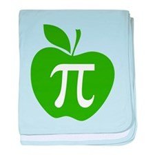 Green Apple Pi Math Humor baby blanket