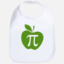 Green Apple Pi Math Humor Bib