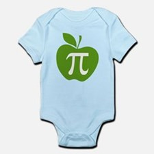 Green Apple Pi Math Humor Infant Bodysuit