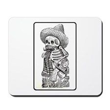 Calavera with Bottle Mousepad