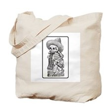 Calavera with Bottle Tote Bag