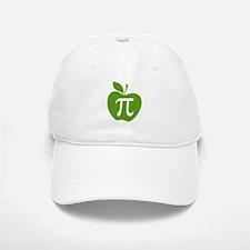 Green Apple Pi Math Humor Baseball Baseball Cap