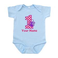 First Birthday Girl Gecko Infant Bodysuit
