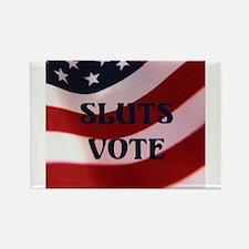 Sluts Vote Rectangle Magnet