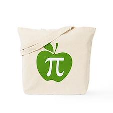 Green Apple Pi Math Humor Tote Bag