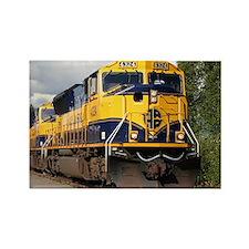 Alaska Railroad engine Rectangle Magnet
