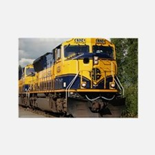Alaska Railroad engine Rectangle Magnet