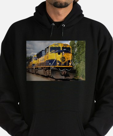 Alaska Railroad engine Hoodie (dark)