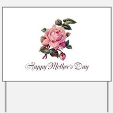 Mother's Rose Yard Sign