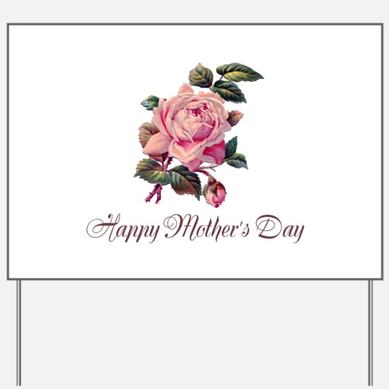 Mother's Rose Yard Sign