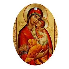 Mary The God-Bearer Ornament (Oval)