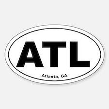 ATL (Atlanta, GA) Oval Decal