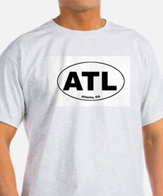 ATL (Atlanta, GA) Ash Grey T-Shirt