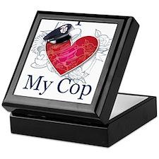 I Love My Cop Keepsake Box
