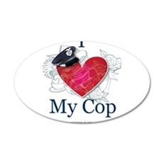 I Love My Cop Wall Decal