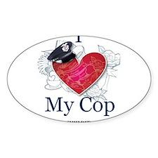 I Love My Cop Decal