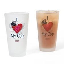 I Love My Cop Drinking Glass