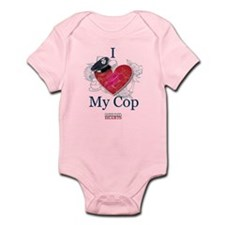I Love My Cop Infant Bodysuit