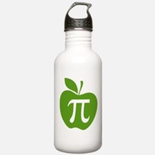 Green Apple Pi Math Humor Water Bottle