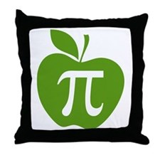 Green Apple Pi Math Humor Throw Pillow