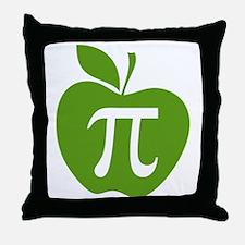 Green Apple Pi Math Humor Throw Pillow