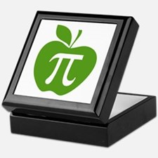 Green Apple Pi Math Humor Keepsake Box