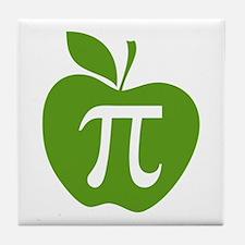 Green Apple Pi Math Humor Tile Coaster