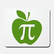 Green Apple Pi Math Humor Mousepad