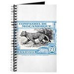 1930's Mozambique Leopard Stamp Blue Journal