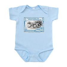 1930's Mozambique Leopard Stamp Blue Infant Bodysu