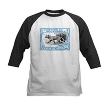 1930's Mozambique Leopard Stamp Blue Tee