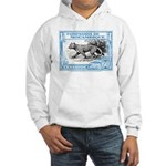 1930's Mozambique Leopard Stamp Blue Hooded Sweats