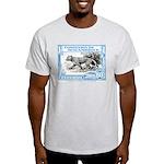 1930's Mozambique Leopard Stamp Blue Light T-Shirt