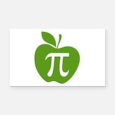 Green Apple Pi Math Humor Rectangle Car Magnet