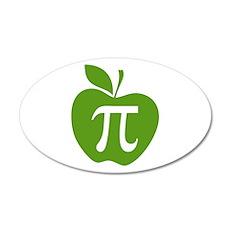 Green Apple Pi Math Humor Wall Decal