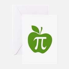 Green Apple Pi Math Humor Greeting Cards (Pk of 20