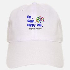 Eat Sleep Happy Pills.PNG Baseball Baseball Cap