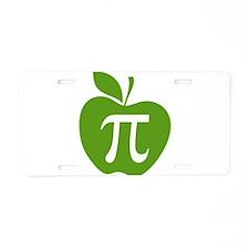 Green Apple Pi Math Humor Aluminum License Plate