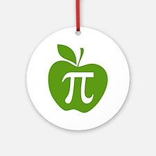 Green Apple Pi Math Humor Ornament (Round)
