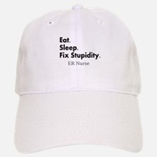 Eat sleep ER nurse.PNG Baseball Baseball Cap